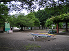雨の児童公園