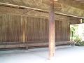 信濃国分寺 寺院造の休憩所 斜めから