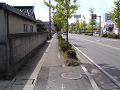 郊外の歩道