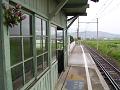 駅舎前から上田方面