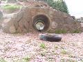 遊具 土管のトンネル