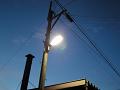 工場前の外灯