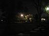 夜の公園 芝生の広場