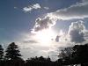 薄雲の向こうに太陽