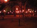 上田城址公園本丸跡広場・夜。