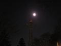 上田城址公園 月下の「愛の鐘(スピーカー鉄塔)」
