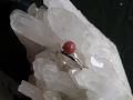 水晶群晶にカーネリアンのリング