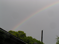 煙突の上に虹