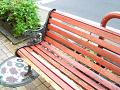 雨の日のベンチ