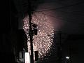 電柱と花火