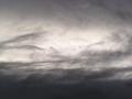 雨の夕方、東の空