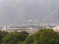 上田城址公園方面(小牧山より見下ろす)
