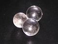 光に照らされた水晶玉