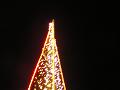 光の三角ツリー