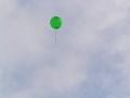 飛んでゆく風船【色変更加工ヴァージョン】 緑