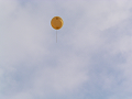 飛んでゆく風船【色変更加工ヴァージョン】 橙