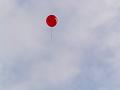 飛んでゆく風船【色変更加工ヴァージョン】 赤