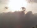 低い雲と高い雲と。