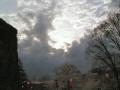 桜の上の雲