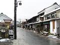 雪の春(北国街道柳町)