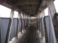 途中まで木製、途中からコンクリート製になる高架橋