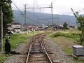 長野電鉄屋代線「松代」駅方面。