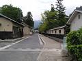 城下町の道。
