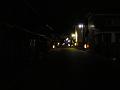夜の柳町(旧北国街道沿い)