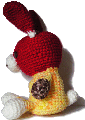 編みぐるみ 兎、ちょっと落ち込む 背景透過GIF