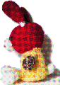 編みぐるみ 兎、ちょっと落ち込む 背景透過GIF その2