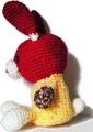 編みぐるみ 兎、ちょっと落ち込む 白背景 jpeg