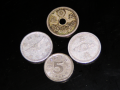五銭硬貨色々。(表)