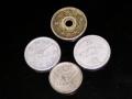 五銭硬貨色々。(裏)