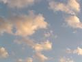 夏の名残 夕方の空