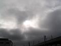 新幹線の高架の上の空。