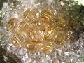 黄水晶のビーズ