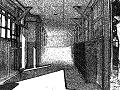 旧校舎の昇降口。(薄暗い・怖い)