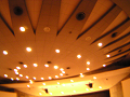 【ピンぼけ】ホールの天井