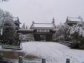 四月の雪の中の上田城