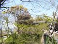 木々の間に見える上田城南櫓