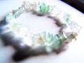 クリアグリーンのフローライト(蛍石)のサザレブレス