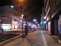 冬の夜道(若干上り坂)