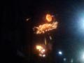 町中から撮影した上田大花火大会