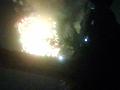 上田城跡公園内から撮影した上田大花火大会