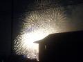 大手通りから撮影した上田大花火大会
