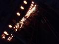 盆踊り、提灯の明かり