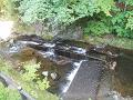 鹿教湯温泉:水の流れ(内村川)
