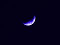月(色加工):三日月(青)