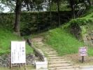 上田城址公園 尼が淵から上る階段1