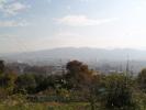 白蛇神社から上田市中心地